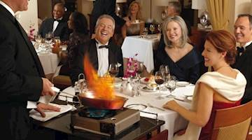 Dining onboard Cunard Cruises
