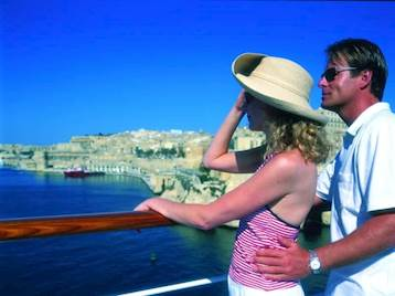 Couple onboard Thomson Cruise Ship