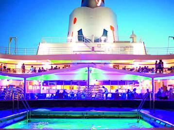 Thomson Cruises Pool at night