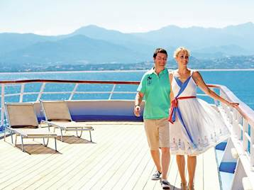 Thomson Cruises couple on deck