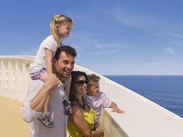 Family onboard MSC Cruises