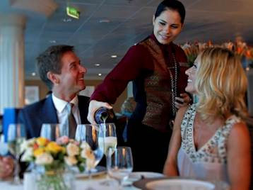 Couple Dining onboard Azamara Cruises