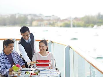 Couple onboard Holland America Cruise Ship