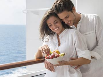 Couple onboard MSC Cruises