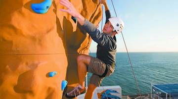 Climbing wall onboard Norwegian Cruise Line Ship