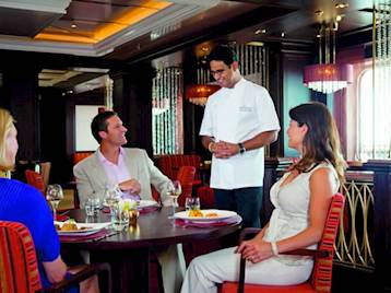Friends dining onboard P&O Cruises