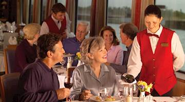 Couple dining onboard Viking River Ship
