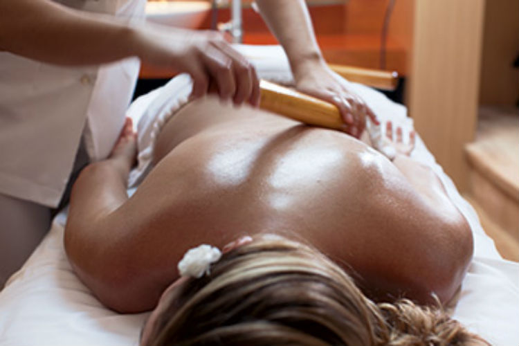 A massage at The Spa on board Crystal Cruises