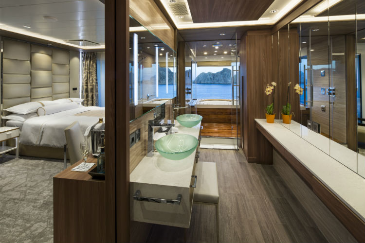 The spa suite on board an Azamara Cruise