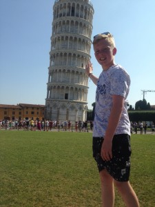 boy with tower
